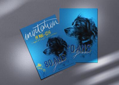 Carton d'invitation & menu