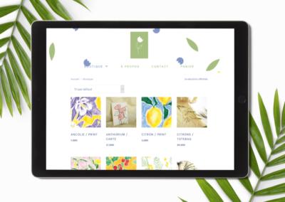 Léa LG – site e-commerce